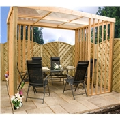 Contemporary Wooden Garden Dining Shelter (2.39m x 3.51m) - 48HR + SAT Delivery*
