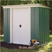 6ft x 4ft Rowlinson Metal Pent Shed (1.94m x 1.19m)