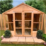 8ft x 8ft Antigua Tongue & Groove Summerhouse (10mm Solid OSB Floor & Roof)
