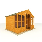 10ft x 8ft Antigua Tongue & Groove Summerhouse (10mm Solid OSB Floor & Roof)