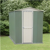 6ft x 4ft Madrid Hinged Door Metal Shed (1.83m x 1.23m)