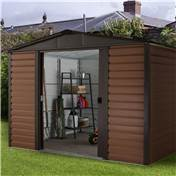 "Yardmaster 7' 5"" x 6' 1"" Woodgrain Metal Shed + FREE ANCHOR KIT  (2.26m x 1.86m)"