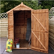 6ft x 4ft Buckingham Value Wooden Overlap Apex Garden Shed with Single Door + 1 Window (10mm Solid OSB Floor) - 48HR + SAT Delivery*