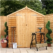 10ft x 6ft Buckingham Overlap Apex Shed With Double Doors (10mm Solid OSB Floor)