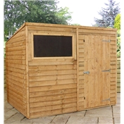 8ft x 6ft Buckingham Overlap Pent Shed (solid 10mm OSB Floor) - 48HR & SAT Delivery*
