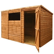 10ft x 6ft Buckingham Overlap Pent Shed with Single Door + 1 Window (10mm Solid OSB Floor) - 48HR & SAT Delivery*