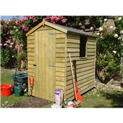 6ft x 4ft Pressure Treated Overlap Apex Wooden Garden Shed (10mm Solid OSB Floor)