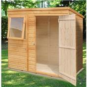 6ft x 4ft Stowe Tongue & Groove Pent Garden Shed / Workshop (10mm Solid OSB Floor)