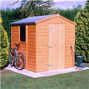 6ft x 6ft Stowe Tongue & Groove Apex Garden Shed / Workshop with Single Door (12mm Tongue and Groove Floor)