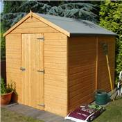 8ft x 6ft Tongue and Groove Apex Garden Wooden Shed / Workshop with Single Door (10mm OSB Floor)
