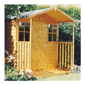 7ft x 7ft Tongue and Groove Apex Garden Wooden Shed + Optional Extra Verandah (12mm Tongue and Groove Floor)