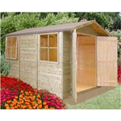 10ft x 7ft Stowe Tongue & Groove Apex Garden Shed / Workshop (12mm Tongue and Groove Floor)