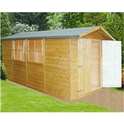 13ft x 7ft Stowe Tongue & Groove Garden Shed / Workshop (12mm Tongue and Groove Floor)