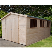 15ft x 10ft Stowe Tongue & Groove Garden Shed / Workshop (12mm Tongue and Groove Floor)