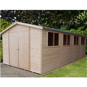 20ft x 10ft Stowe Tongue & Groove Garden Shed / Workshop (12mm Tongue and Groove Floor)
