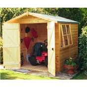 7ft x 7ft Tongue and Groove Pressure Treated Wooden Apex Shed (12mm Tongue and Groove Floor)