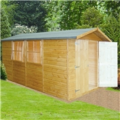 13ft x 7ft Stowe Tongue & Groove Pressure Treated Apex Shed (12mm T&G Floor)