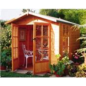 7ft x 7ft Primrose Wooden Summerhouse (12mm T&G Floor & Roof)