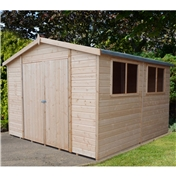 10ft x 10ft Stowe Tongue & Groove Garden Shed / Workshop (12mm Tongue and Groove Floor)