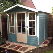 7ft x 7ft Bloomfield Wooden Summerhouse (12mm T&G Floor & Roof)