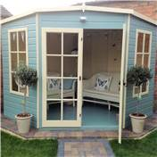 8ft x 8ft Hanbury Wooden Corner Summerhouse (12mm T&G Floor)