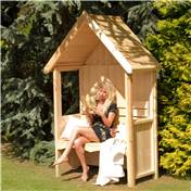 "4ft 5"" x 2ft Wooden Seat Arbour"