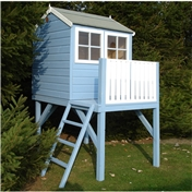 4ft x 6ft Wooden Tower Playhouse