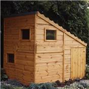 6ft x 4ft Wooden Command Post Playhouse