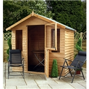 7ft x 5ft Value Overlap Wooden Summerhouse + Stable Door (10mm Solid OSB Floor) - 48HR + SAT Delivery*