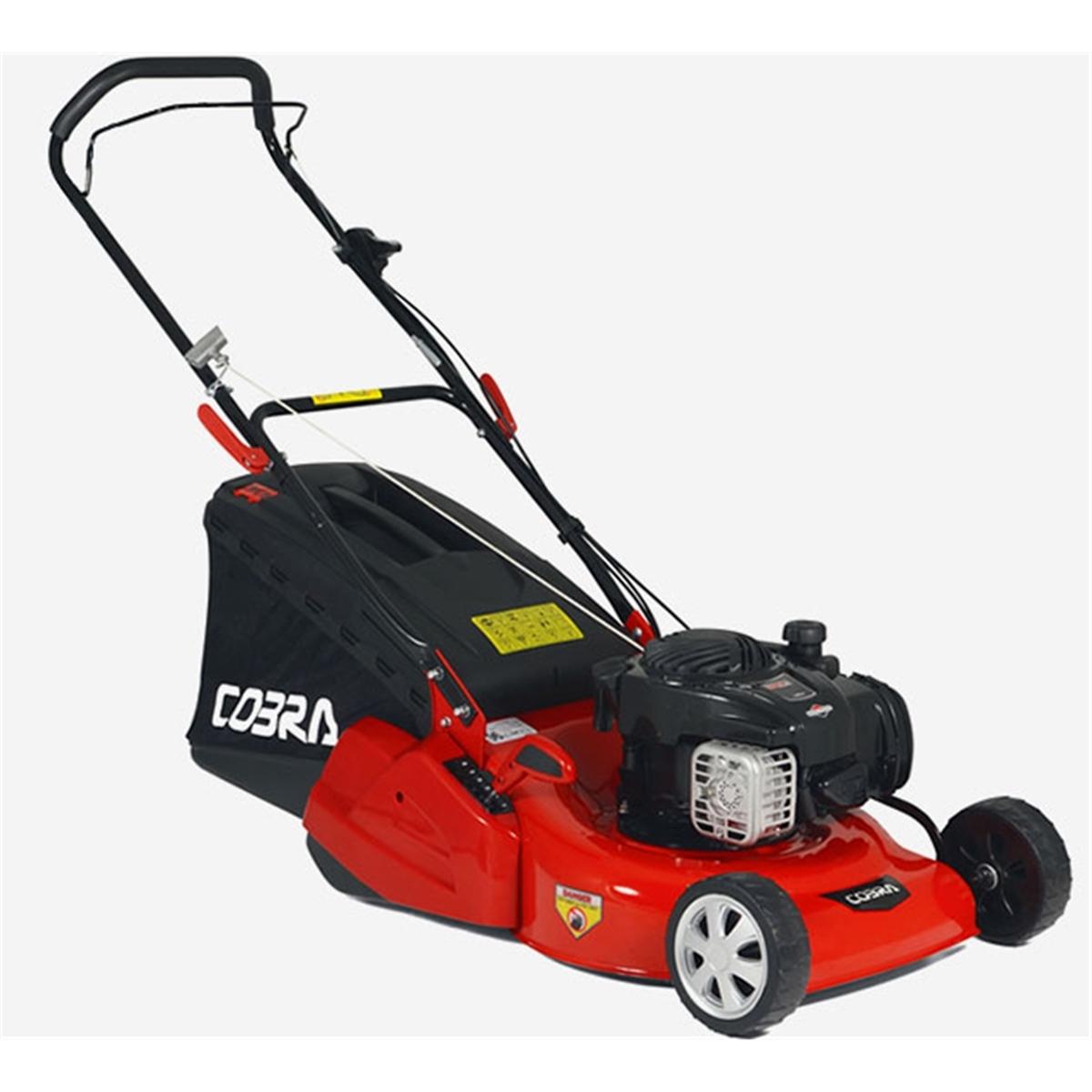 Rear Roller Rotary Push Lawnmower - 46cm - Cobra RM46B -