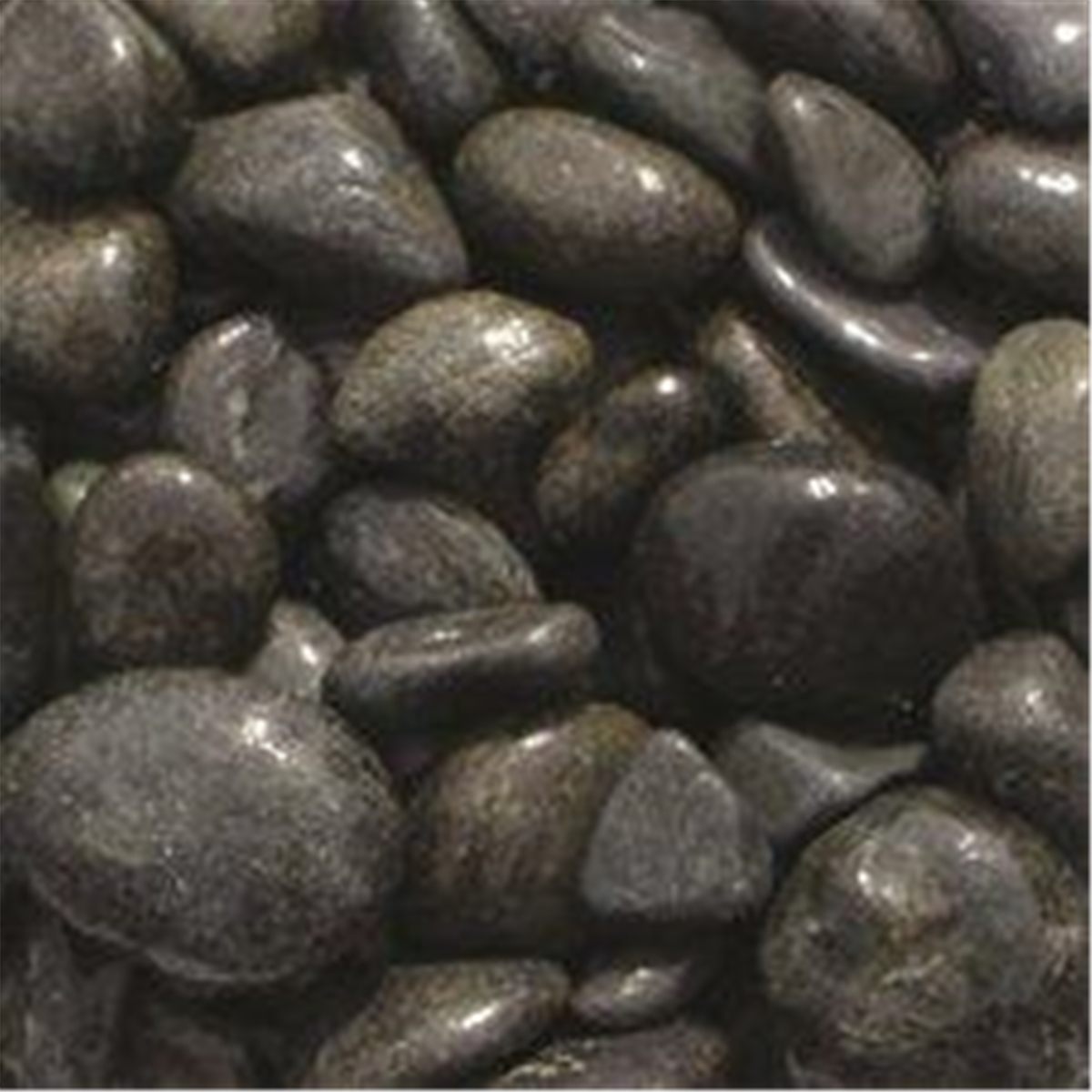 Bulk Bag 850kg Spanish Black Cobbles Gravel