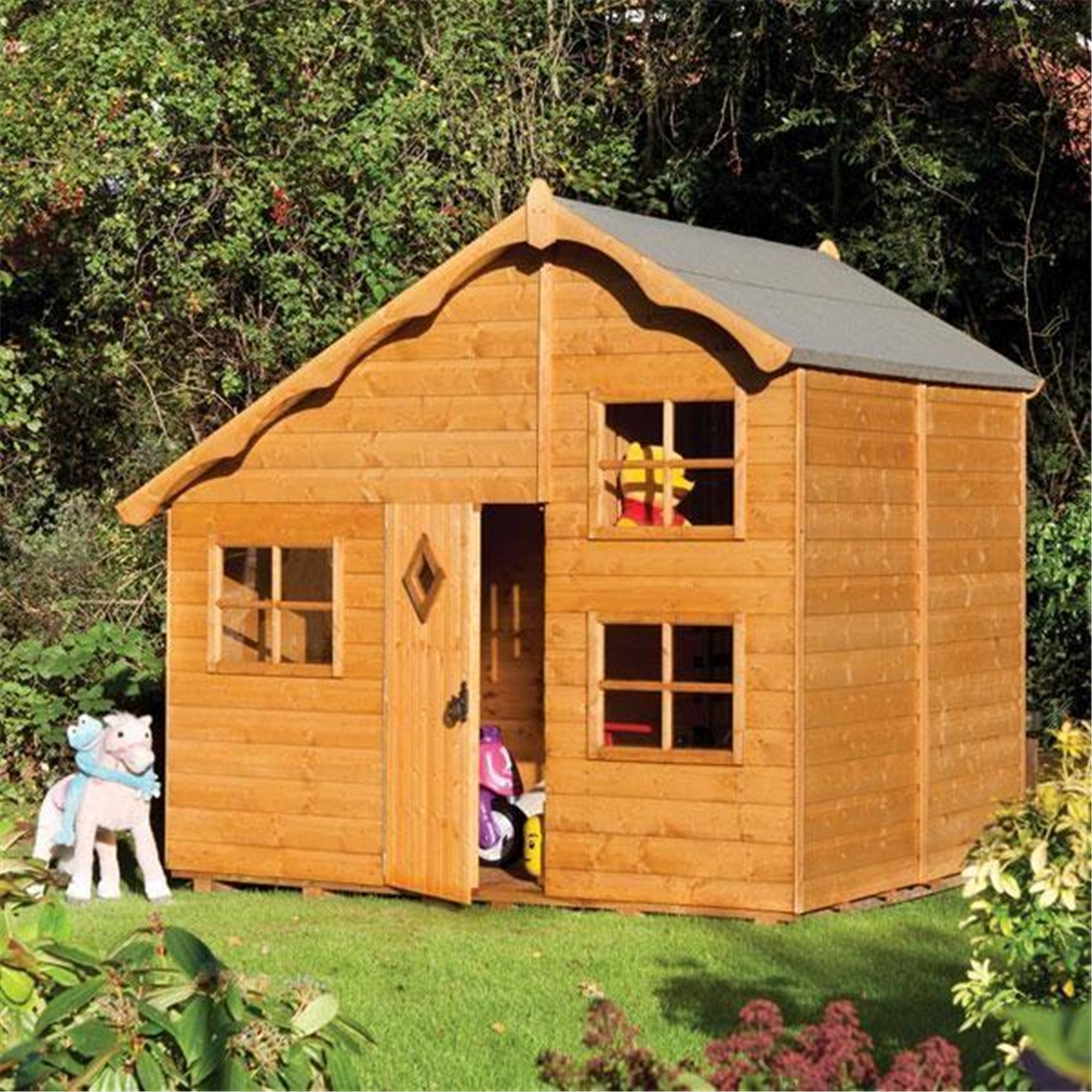 Deluxe Playaway Swiss Cottage Playhouse (2.50m x 2.08m)