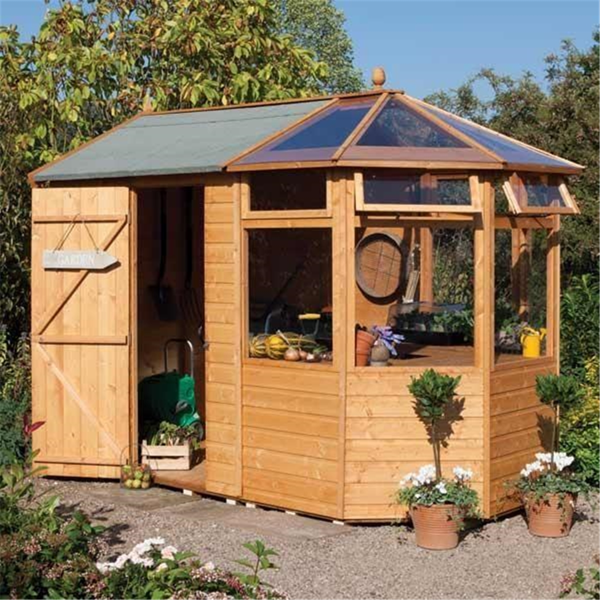 10 x 6 Deluxe Potting Shed (Tongue and Groove Floor)
