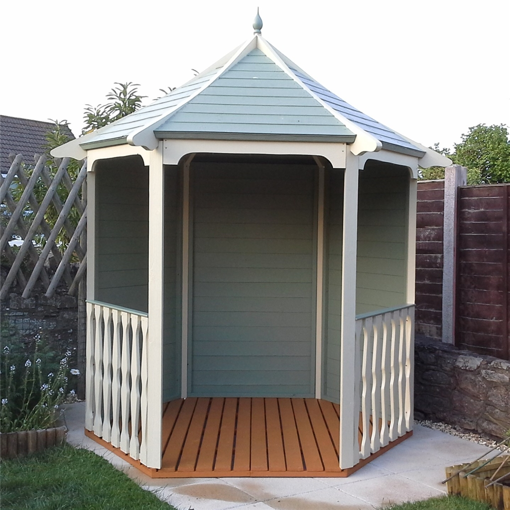 6 X 7 Tongue And Groove Wooden Summerhouse Arbour 12mm Tongue And Groove Floor And Roof Pressure Treated