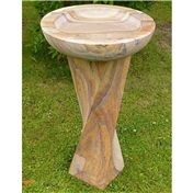 Click to view product details and reviews for Hand Carved Rainbow Sandstone Bird Bath.