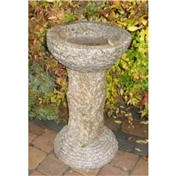 Click to view product details and reviews for Hammered Finish Beige Granite Bird Bath.