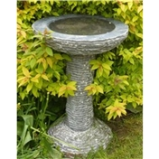Click to view product details and reviews for Black Natural Marble Bird Bath.