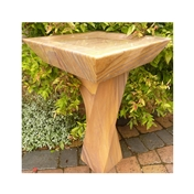 Click to view product details and reviews for Hand Carved Rainbow Sandstone Spiral Square Bird Bath.