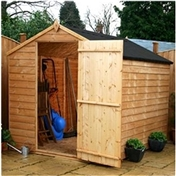 Click to view product details and reviews for 8 x 6 Buckingham Value Wooden Windowless Overlap Apex Garden Shed with Single Door 10mm Osb Floor 48hr Sat Delivery.