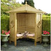 Click to view product details and reviews for 4 X 4 Wooden Corner Arbour.