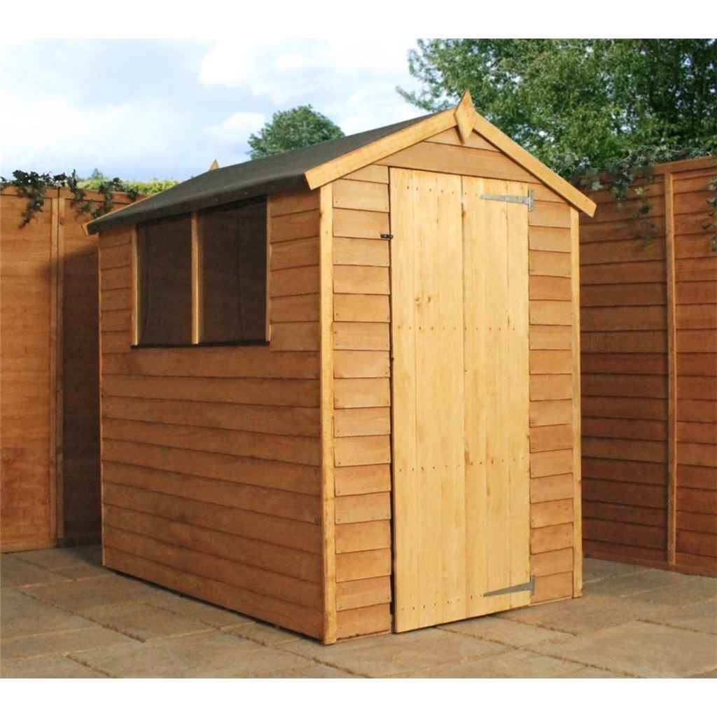 6FT x 4FT SUPER SAVER OVERLAP APEX SHED