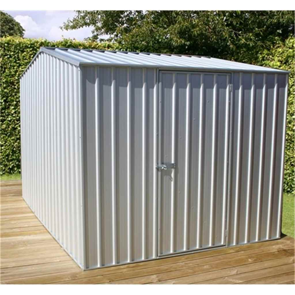 8ft x 10ft Premier Zinc Metal Shed (2.26m x 3m) *FREE 48HR DELIVERY