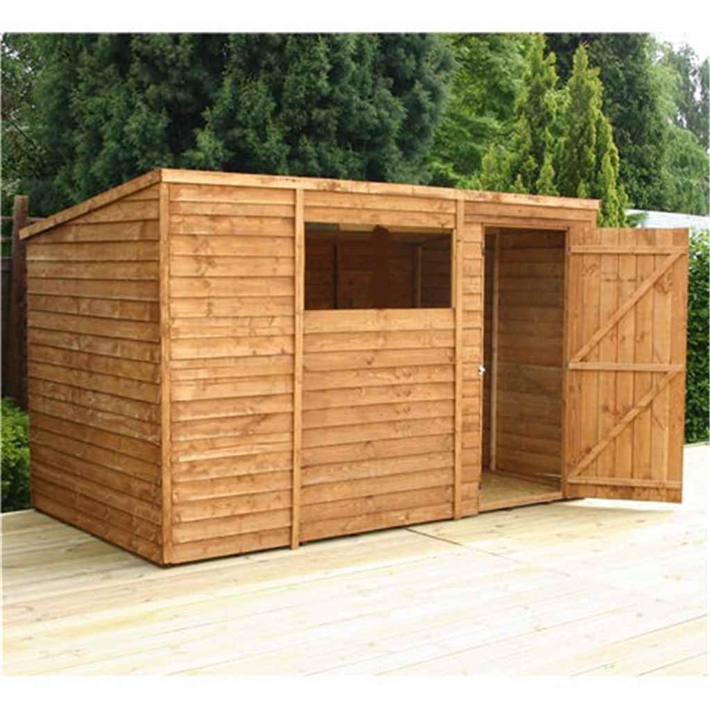 10FT x 6FT SUPER SAVER OVERLAP PENT SHED
