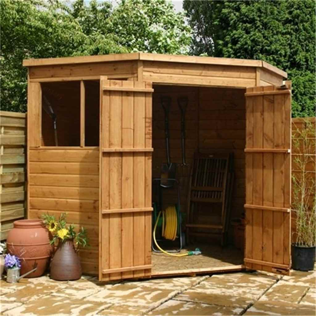 7FT X 7FT TONGUE AND GROOVE CORNER SHED