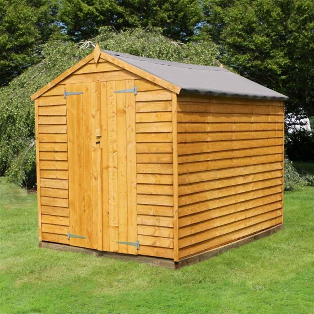8FT x 6FT WINDOWLESS  OVERLAP APEX SHED + FREE UK MAINLAND DELIVERY**