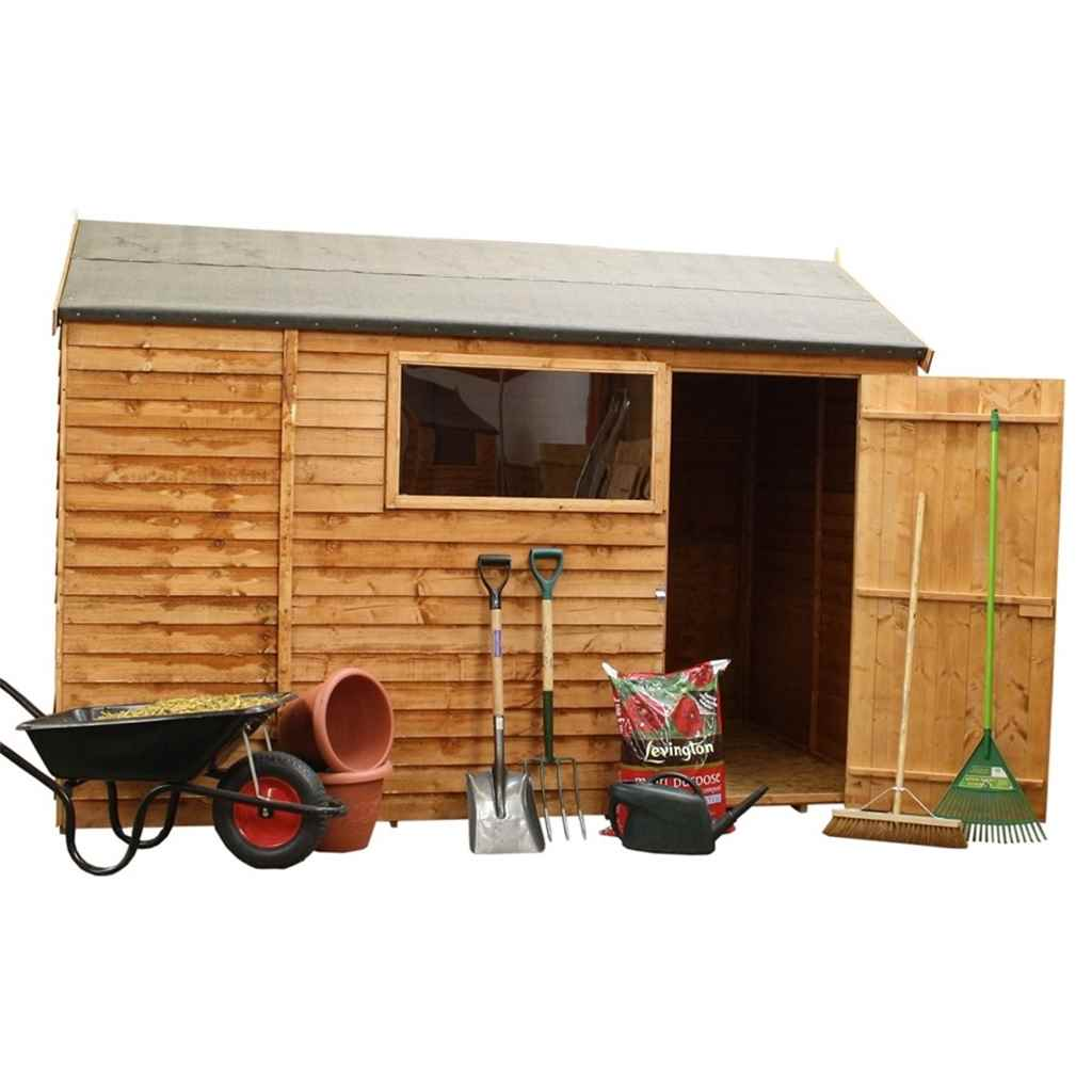 6FT x 10FT REVERSE OVERLAP APEX SHED (10mm Solid OSB Floor)