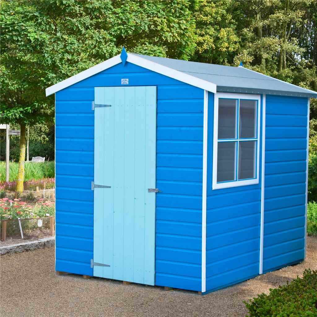 7FT x 5FT STOWE TONGUE & GROOVE GARDEN SHED / WORKSHOP + SINGLE DOOR
