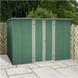 8ft x 4ft Value Pent Metal Shed (2.41m x 1.28m) *FREE 48HR DELIVERY  + Free Anchor Kit