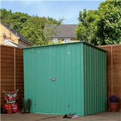 8ft x 6ft Value Pent Metal Garden Shed (2.42m x 1.83m) *FREE 48HR DELIVERY + Free Anchor Kit