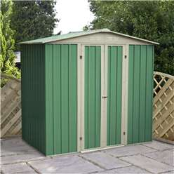 6 x 4 Value Apex Metal Garden Shed (2.04m x 1.31m)  *FREE 48HR DELIVERY + Free Anchor Kit